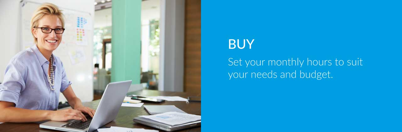 BUY Set your monthly hours to suit your needs and budget. Solab IT Services Aberdeen