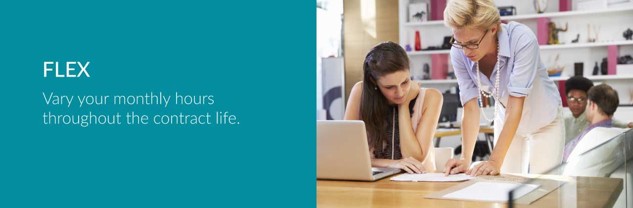 FLEX Vary your monthly hours throughout the contract life. Solab IT Services Aberdeen