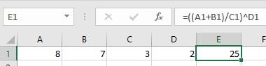 Brackets in Excel 3